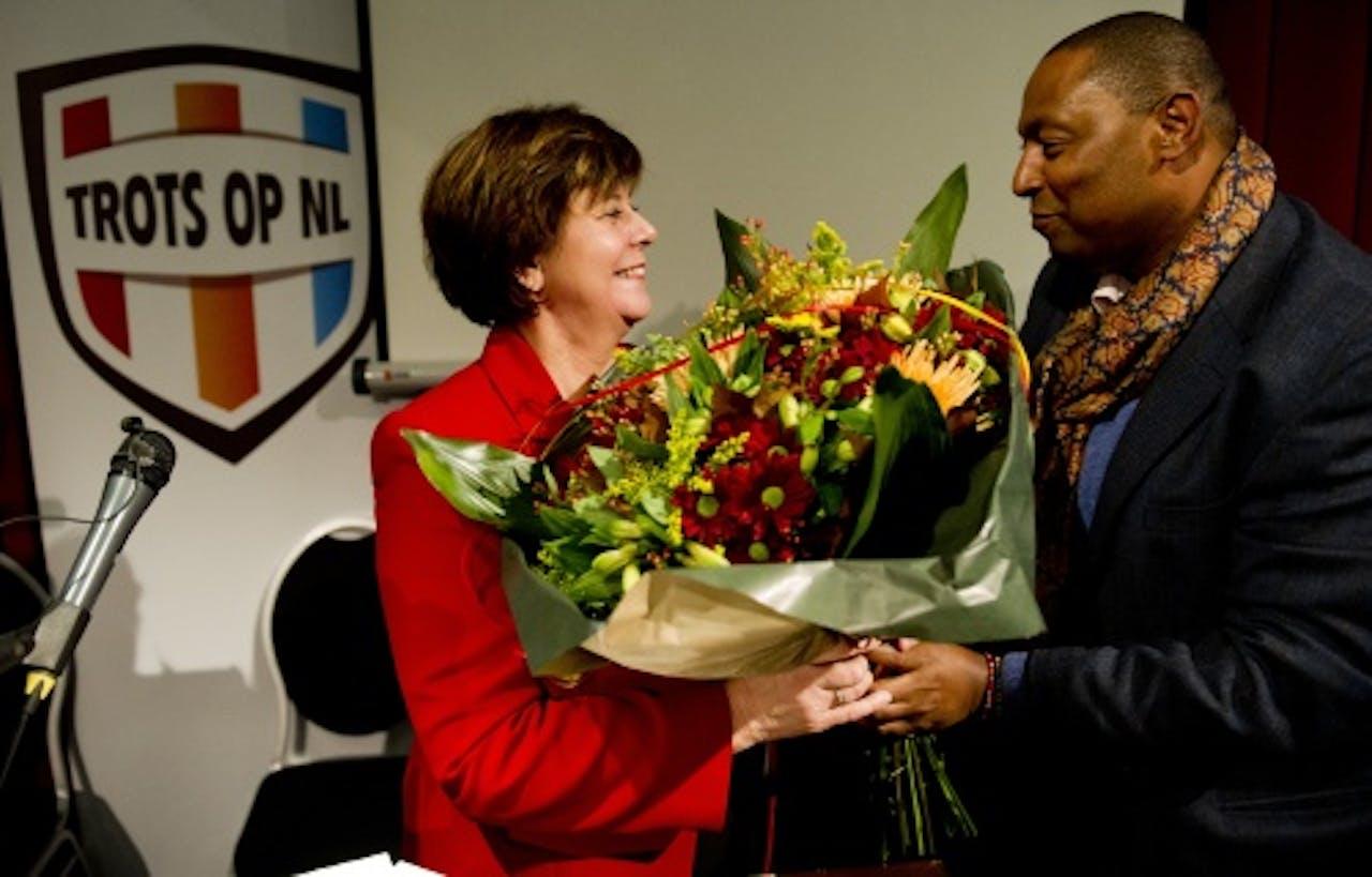 Rita Verdonk nam zaterdag afscheid van Trots op Nederland. ANP