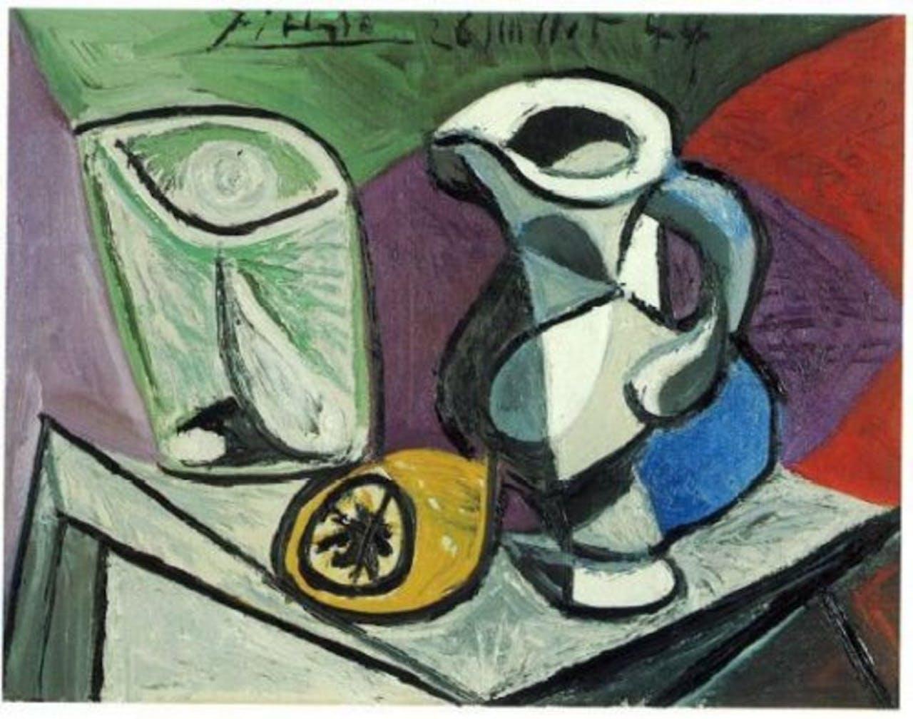 Picasso's Verre et Pichet. EPA