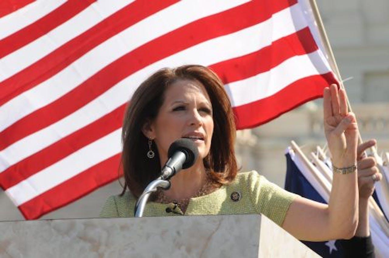 De Republikeinse presidentskandidate Michele Bachmann. EPA