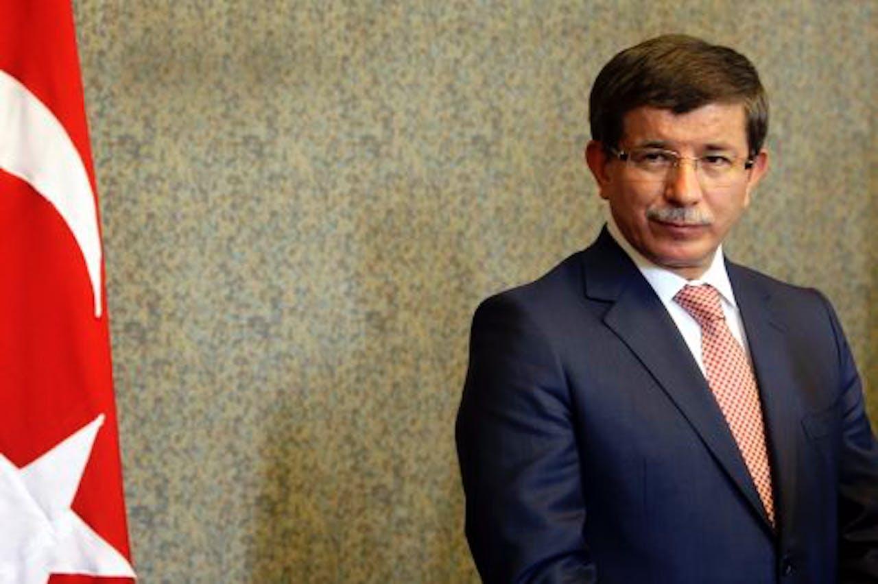 De Turkse minister van Buitenlandse Zaken Ahmet Davutoglu. EPA