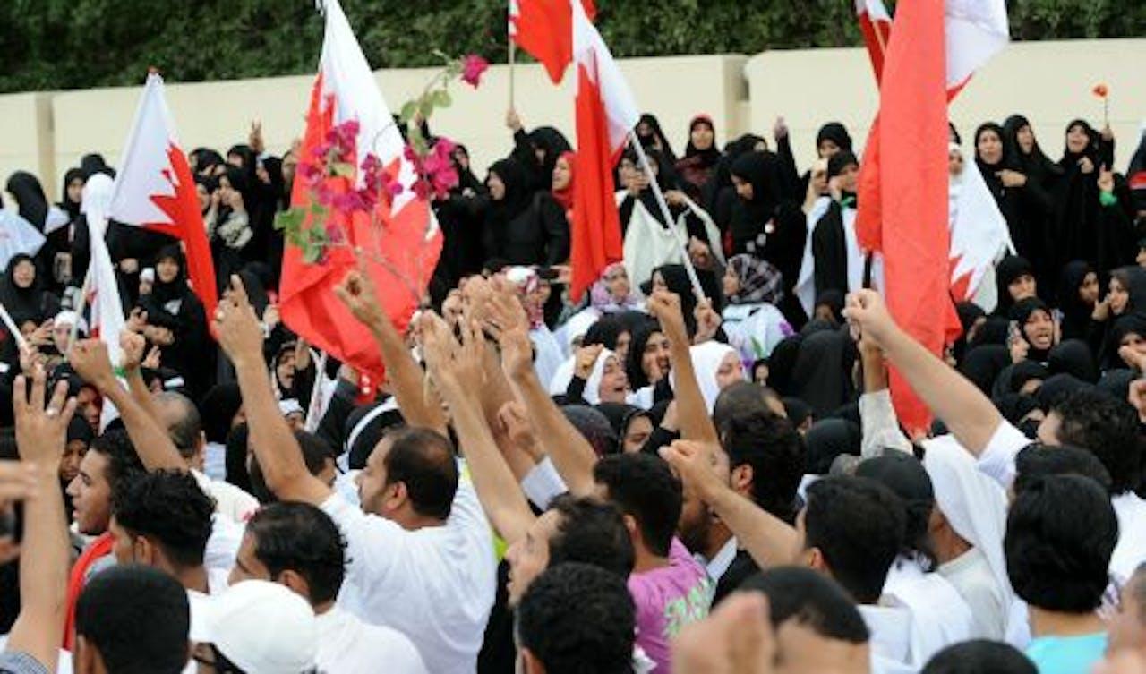 Demonstranten in Bahrein. EPA