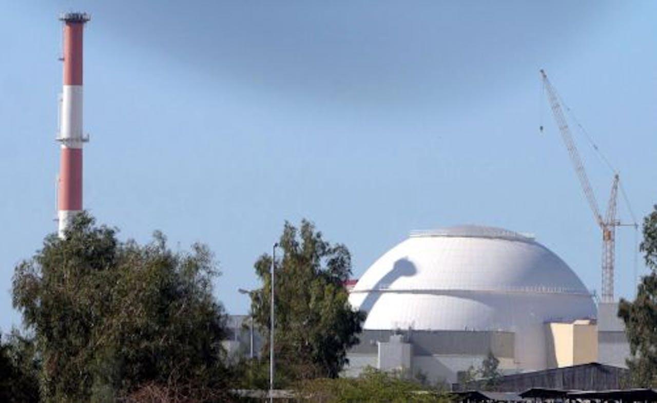 De kerncentrale in de Iraanse stad Bushehr in 2006. EPA