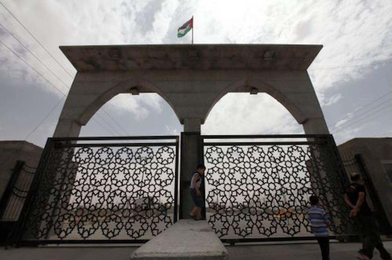 De grens tussen Egypte en de Gazastrook in Rafah. EPA