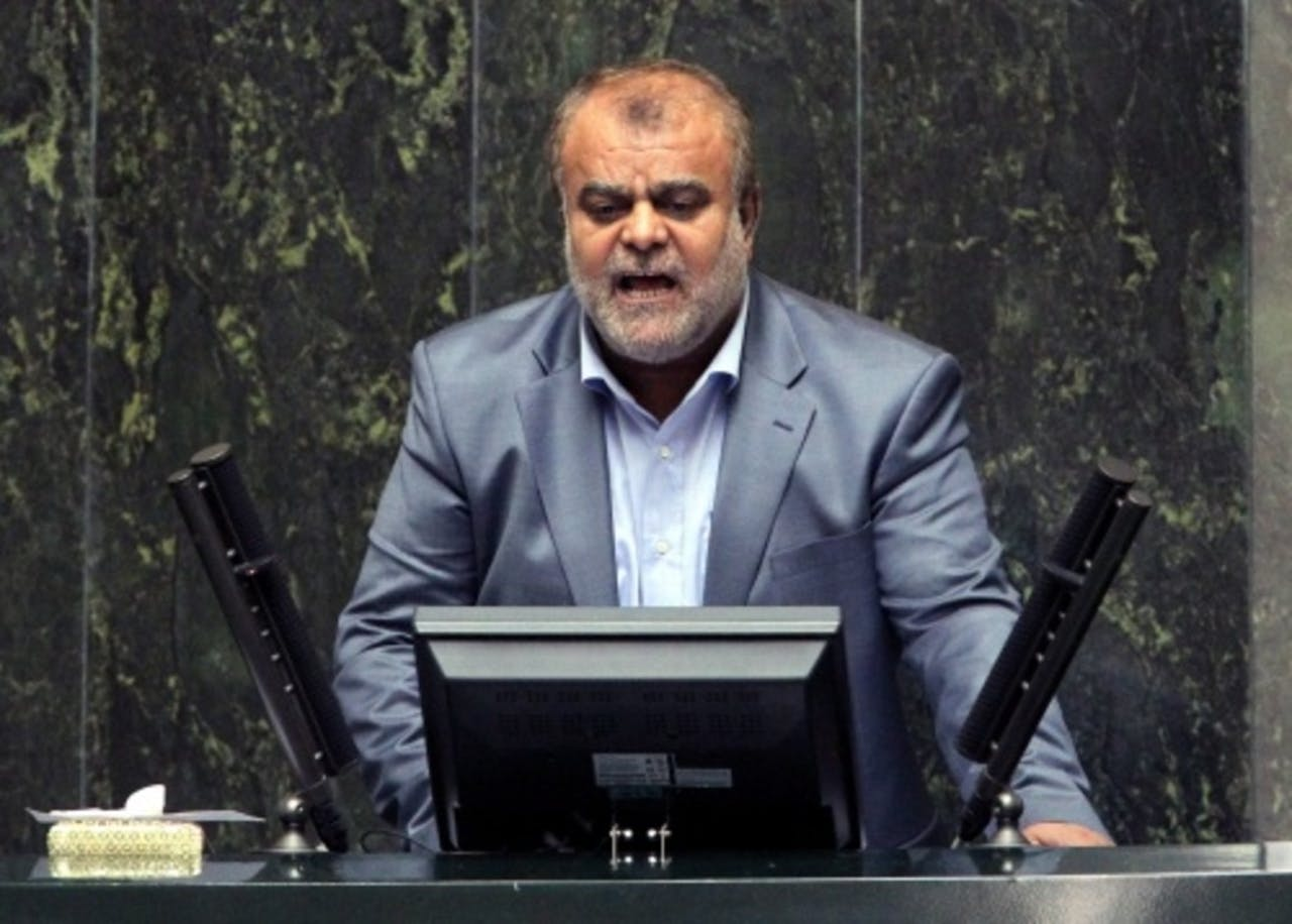 Rostam Qasemi, de minister van Olie in Iran. EPA