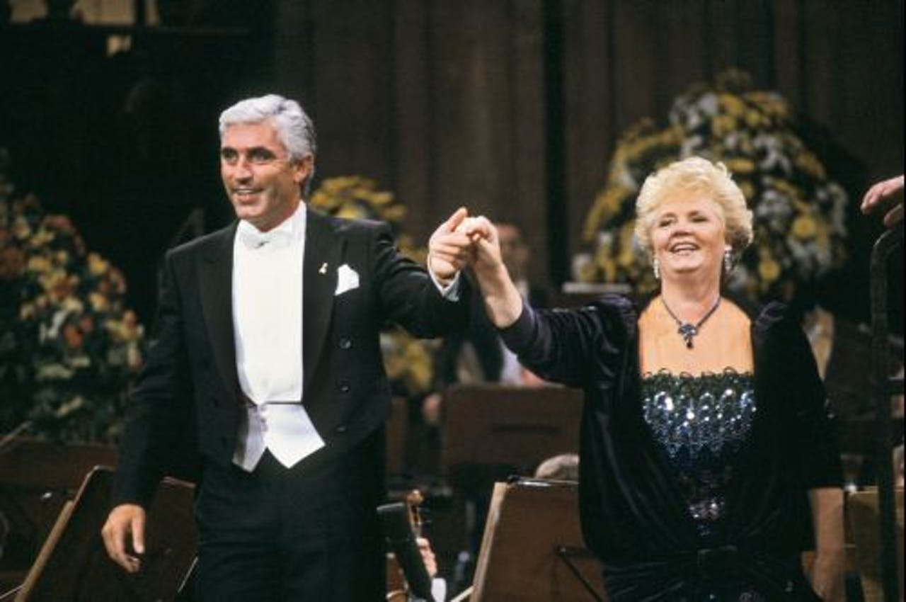 Christina Deutekom met Marco Bakker (archieffoto, 1987). ANP Kippa