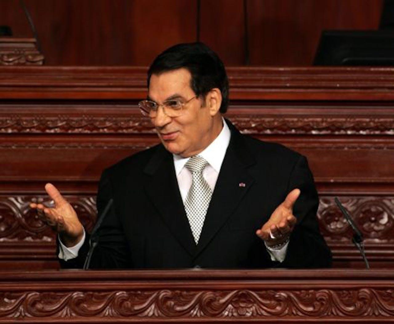 De voormalige Tunesische president Zine al-Abidine Ben Ali. EPA