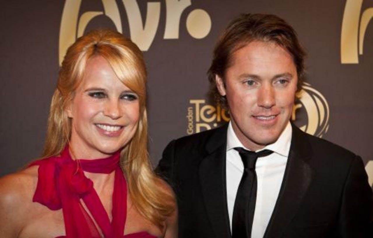 Linda de Mol samen met haar vriend Jeroen Rietbergen. ANP Kippa