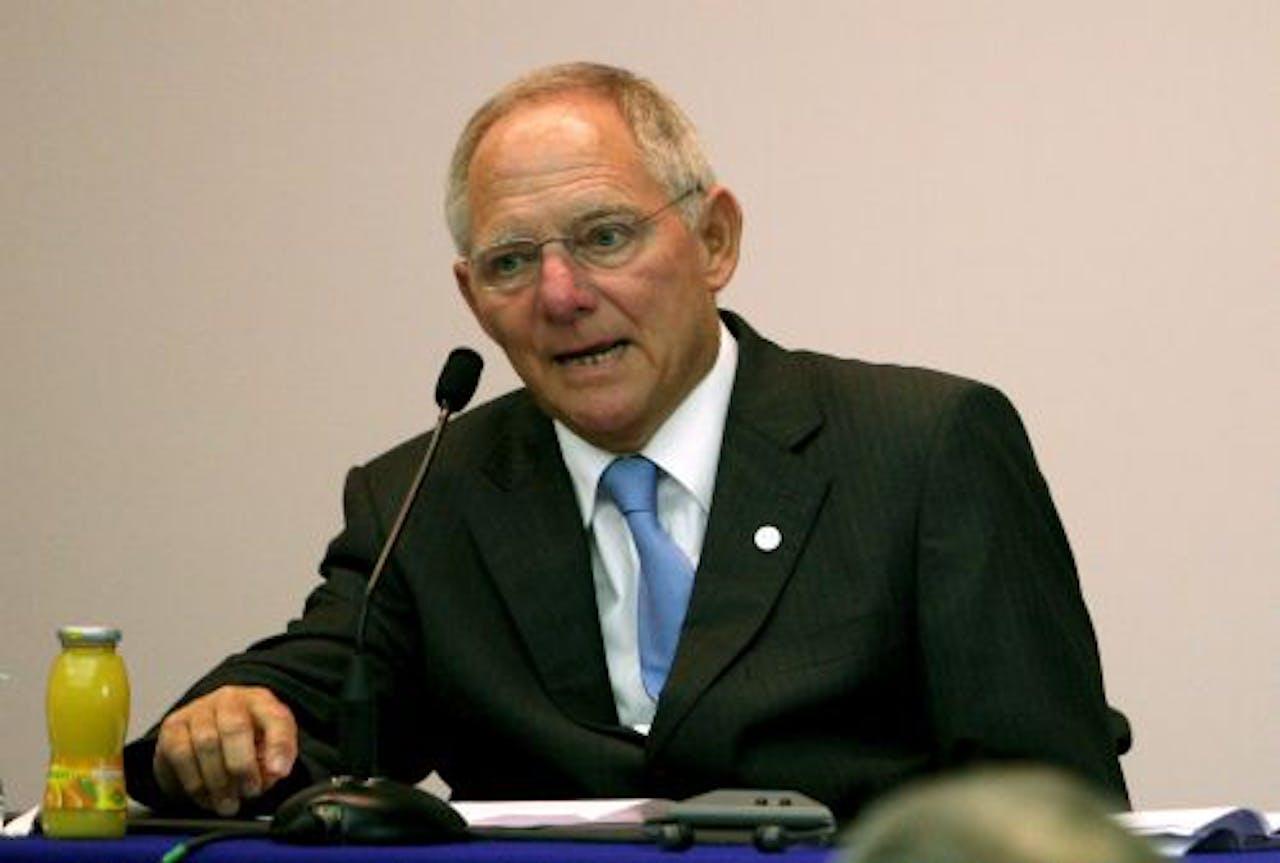 Duitse minister van Financiën Wolfgang Schäuble. EPA