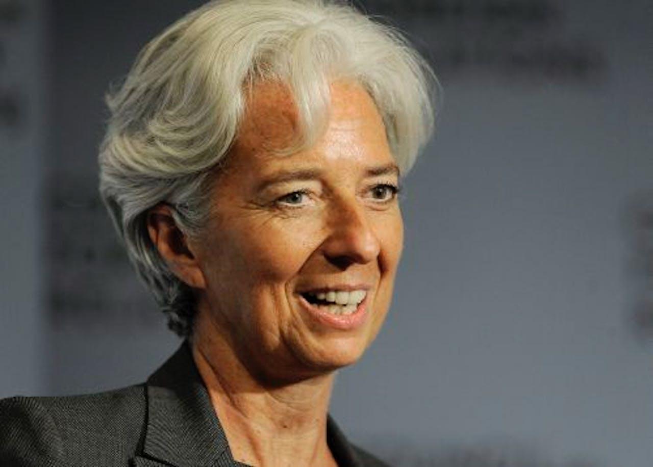 Christine Lagarde, president van het IMF. EPA
