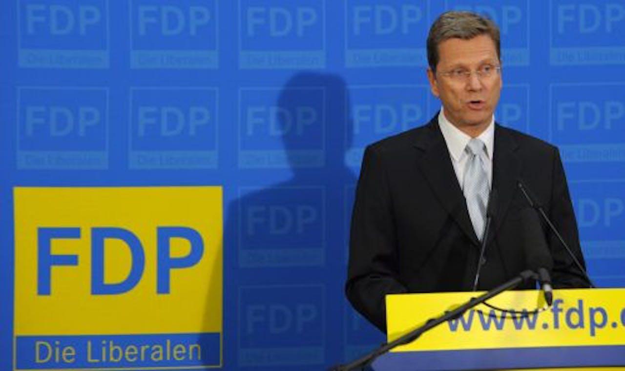 Guido Westerwelle kondigt zondag zijn vertrek aan. EPA