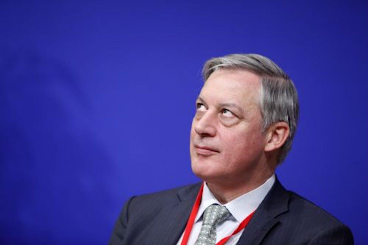 Christian Noyer, topman van de Franse centrale bank. EPA