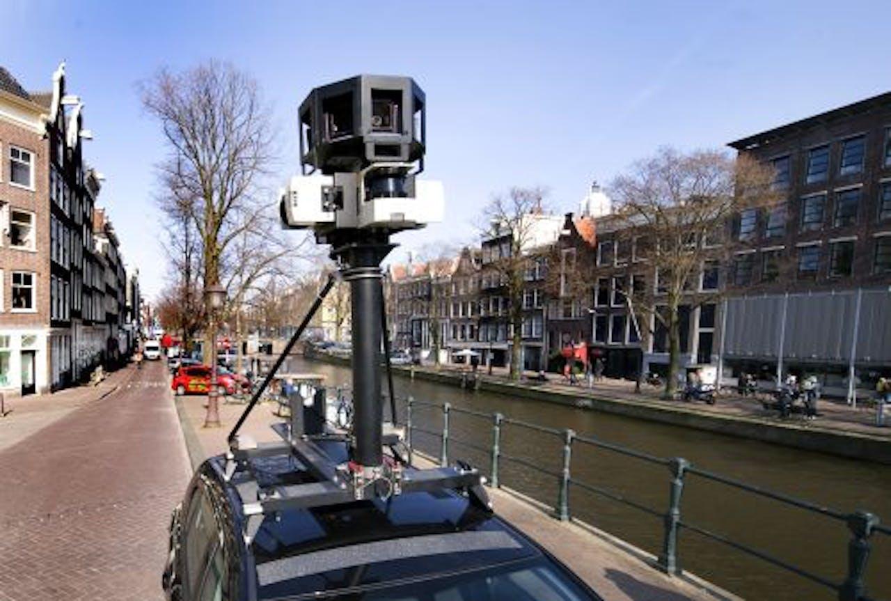 Een Street View-auto van Google. ANP
