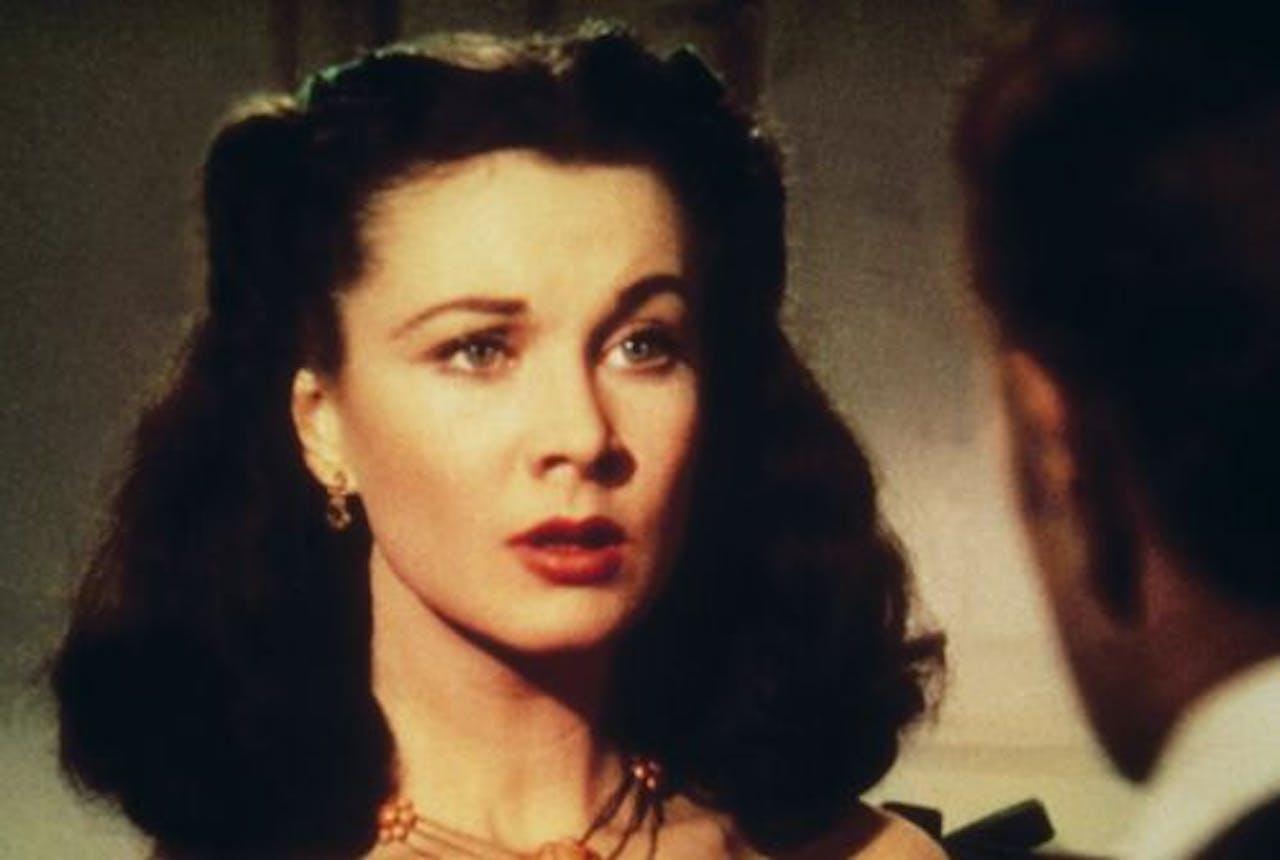 Vivian Leigh die Scarlett O'Hara speelt in Gone With the Wind. ANP Kippa