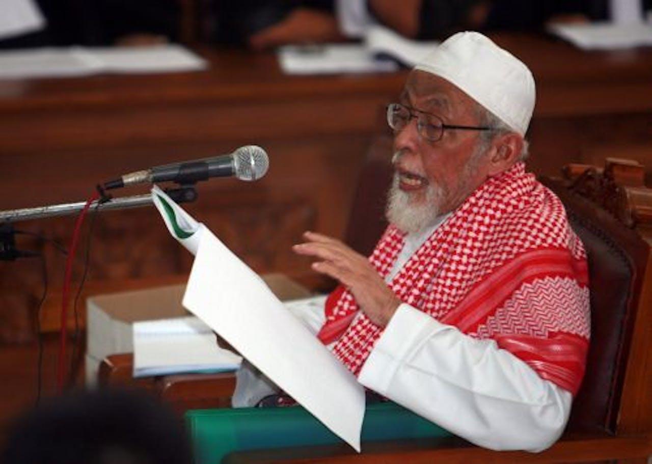Abu Bakar Bashir. EPA