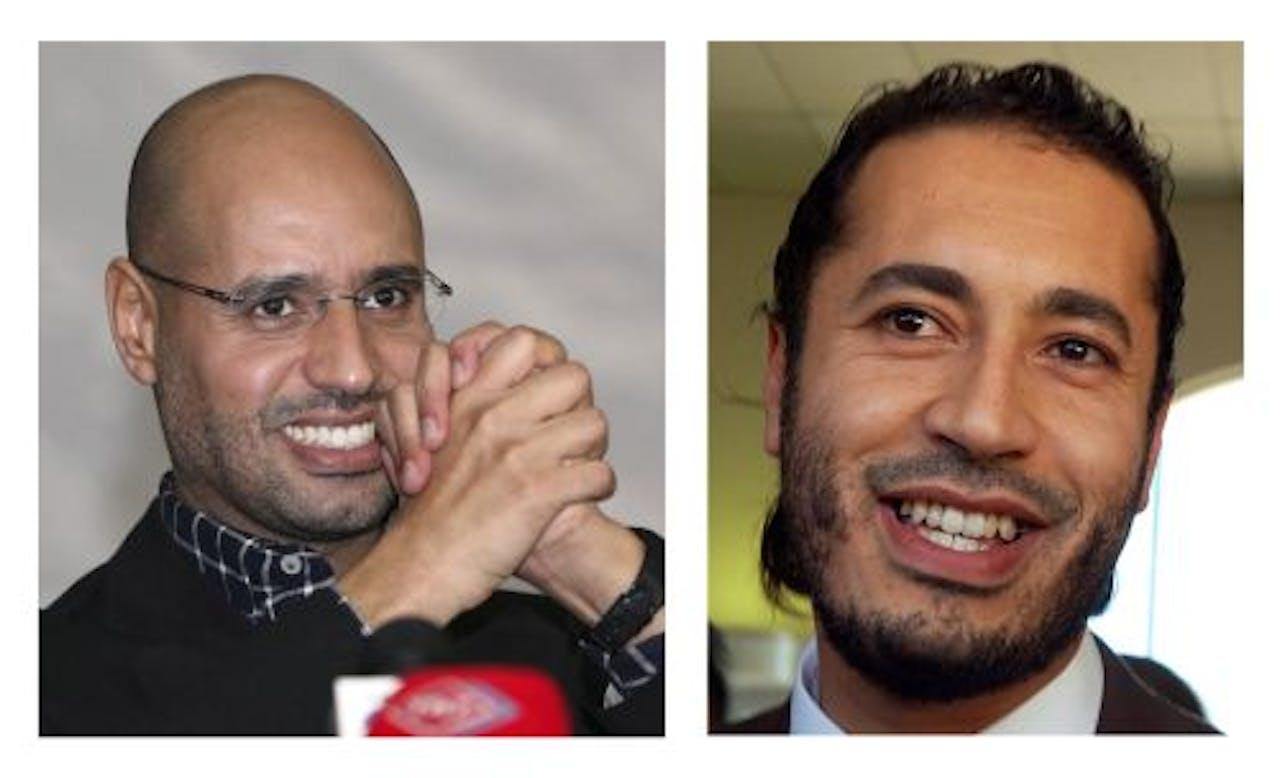 De broers Saif al-Islam (l) en Saadi (R). EPA