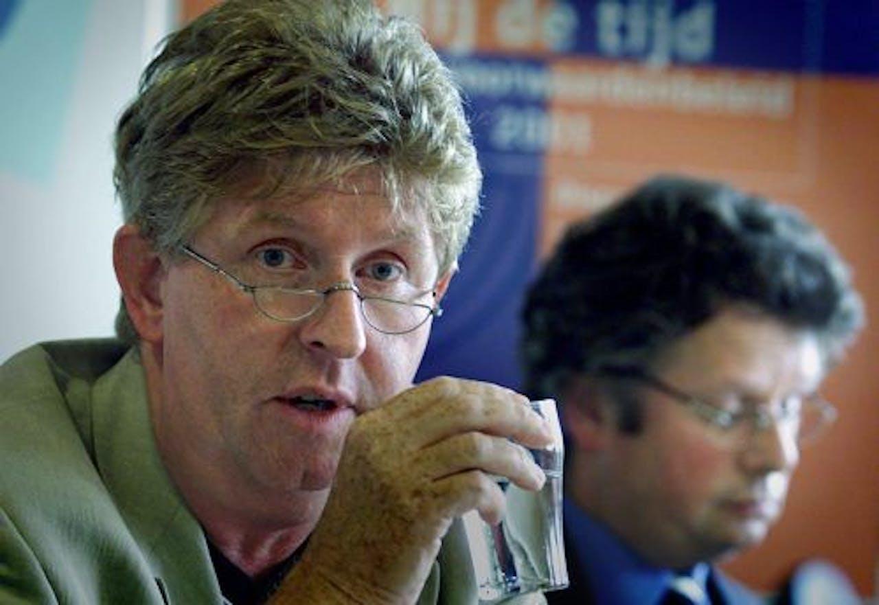 FNV-bondsvoorzitter Henk van der Kolk. ANP