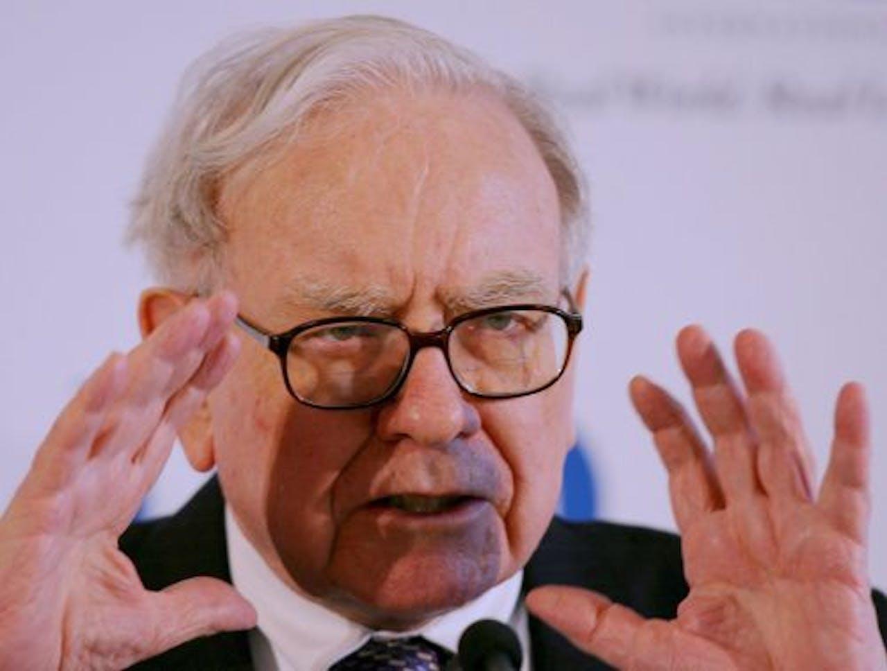 De Amerikaanse superbelegger Warren Buffett. EPA