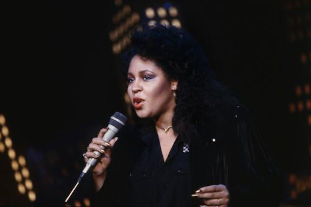 De Amerikaanse R&B-zangeres Vesta Williams in 1987. ANP