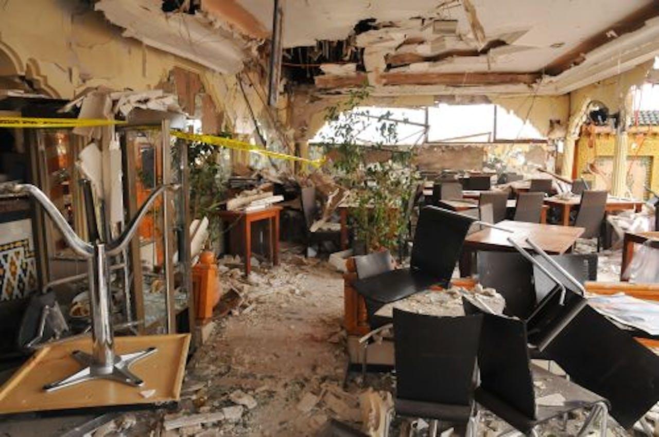 De aanslag in café-restaurant Argana in Marrakesh kostte zestien mensen het leven. EPA