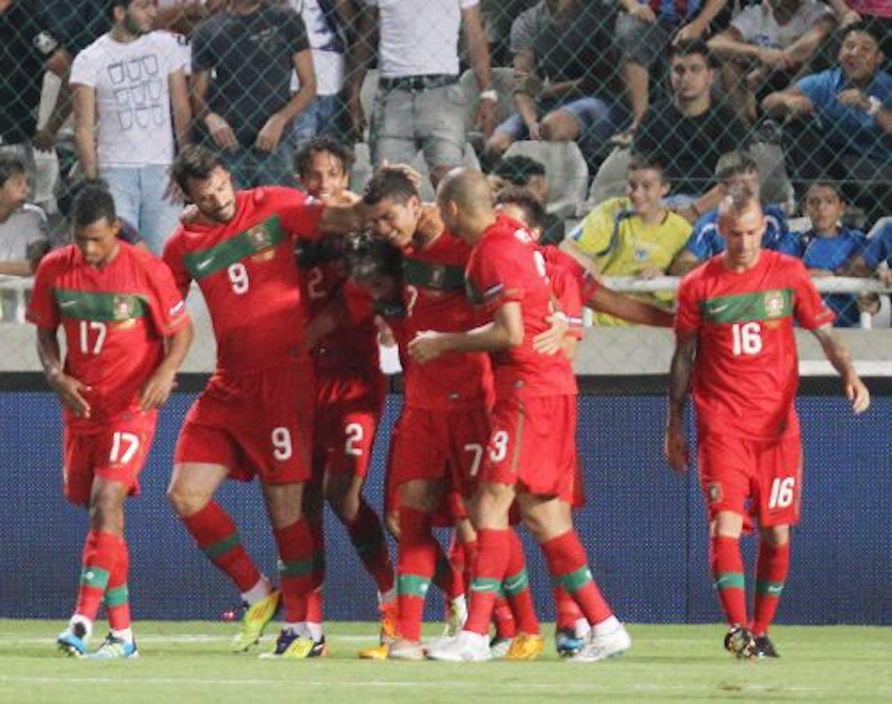 Spelers van Portugal. EPA
