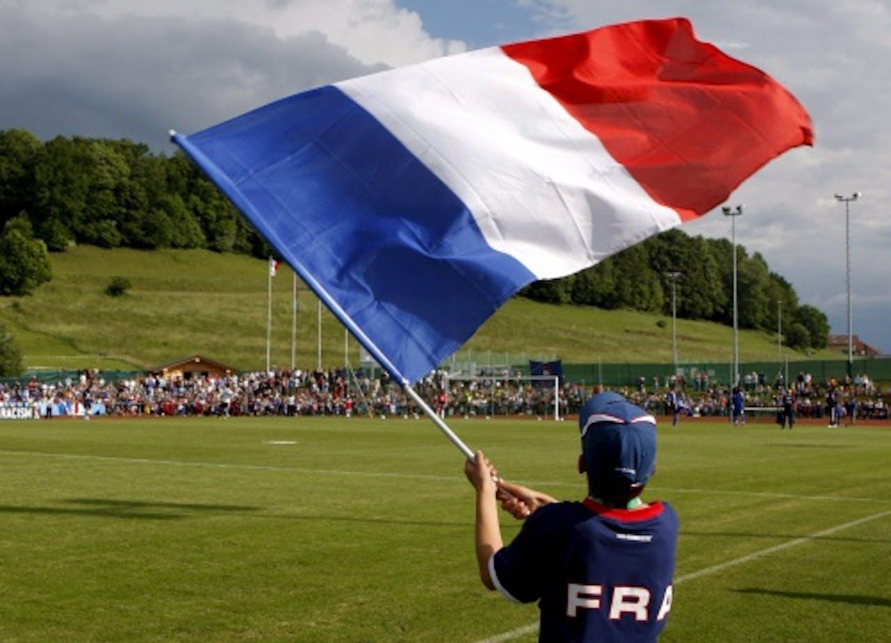 Een Franse voetbalsupporter. EPA
