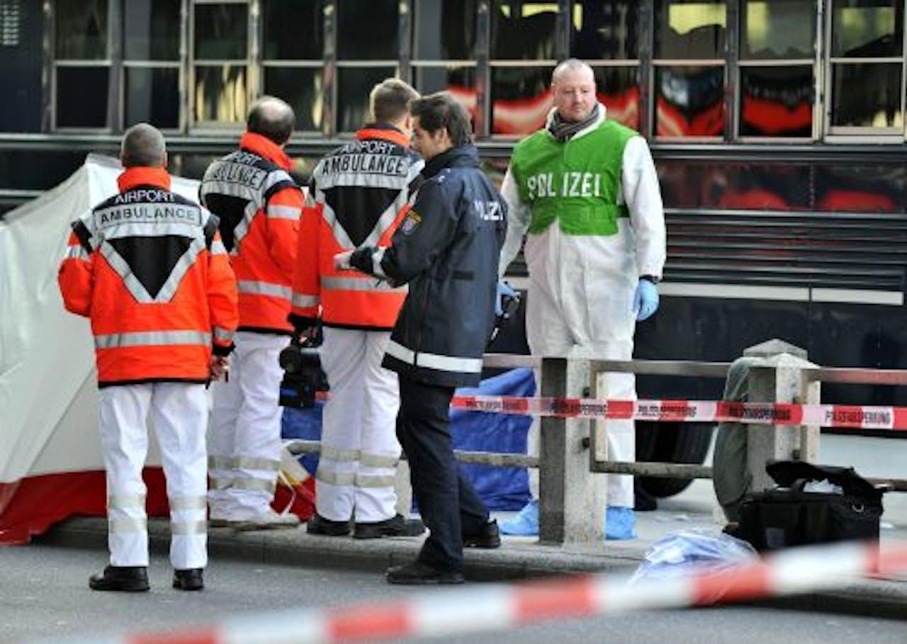 Twee Amerikaanse militairen werden op het vliegveld van Frankfurt doodgeschoten. EPA