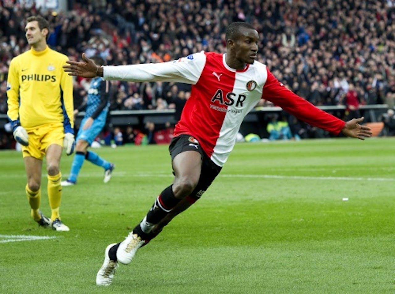 Feyenoorder Sekou Cissé na het scoren van de 1-0. AN