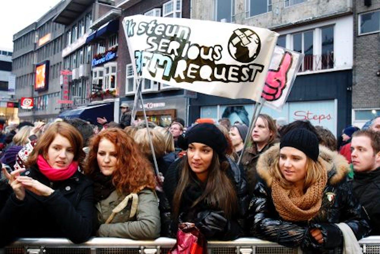 Serious Request vorig jaar in Eindhoven. ANP Kippa
