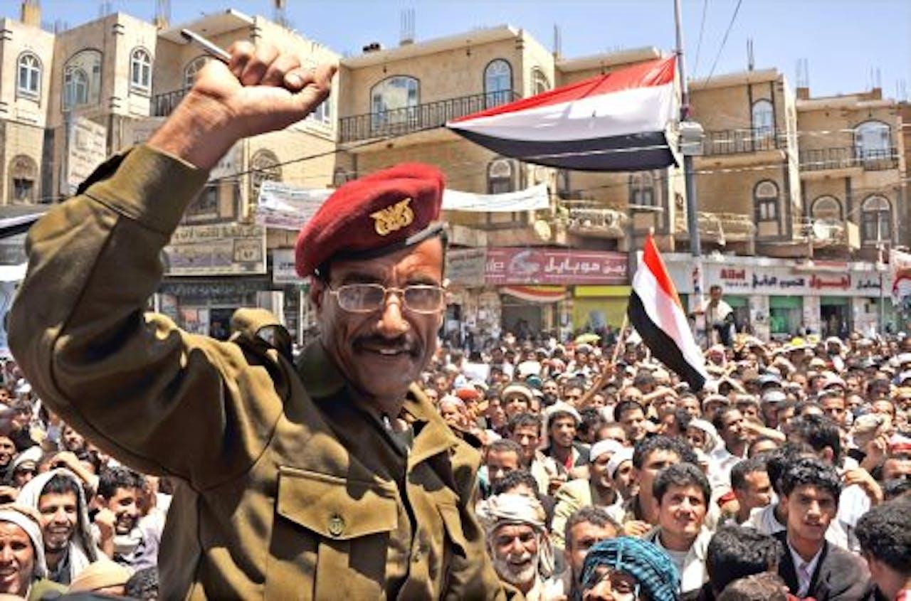 Anti-regeringsbetogers in Jemen. EPA