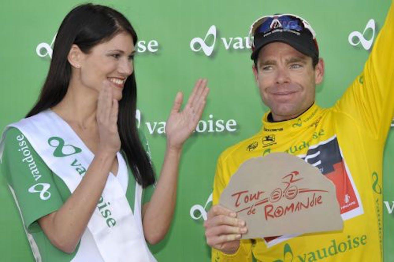Cadel Evans won zondag de Ronde van Romandië. EPA