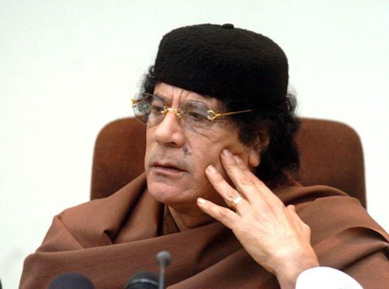 De Libische leider Muammar Kaddafi. EPA