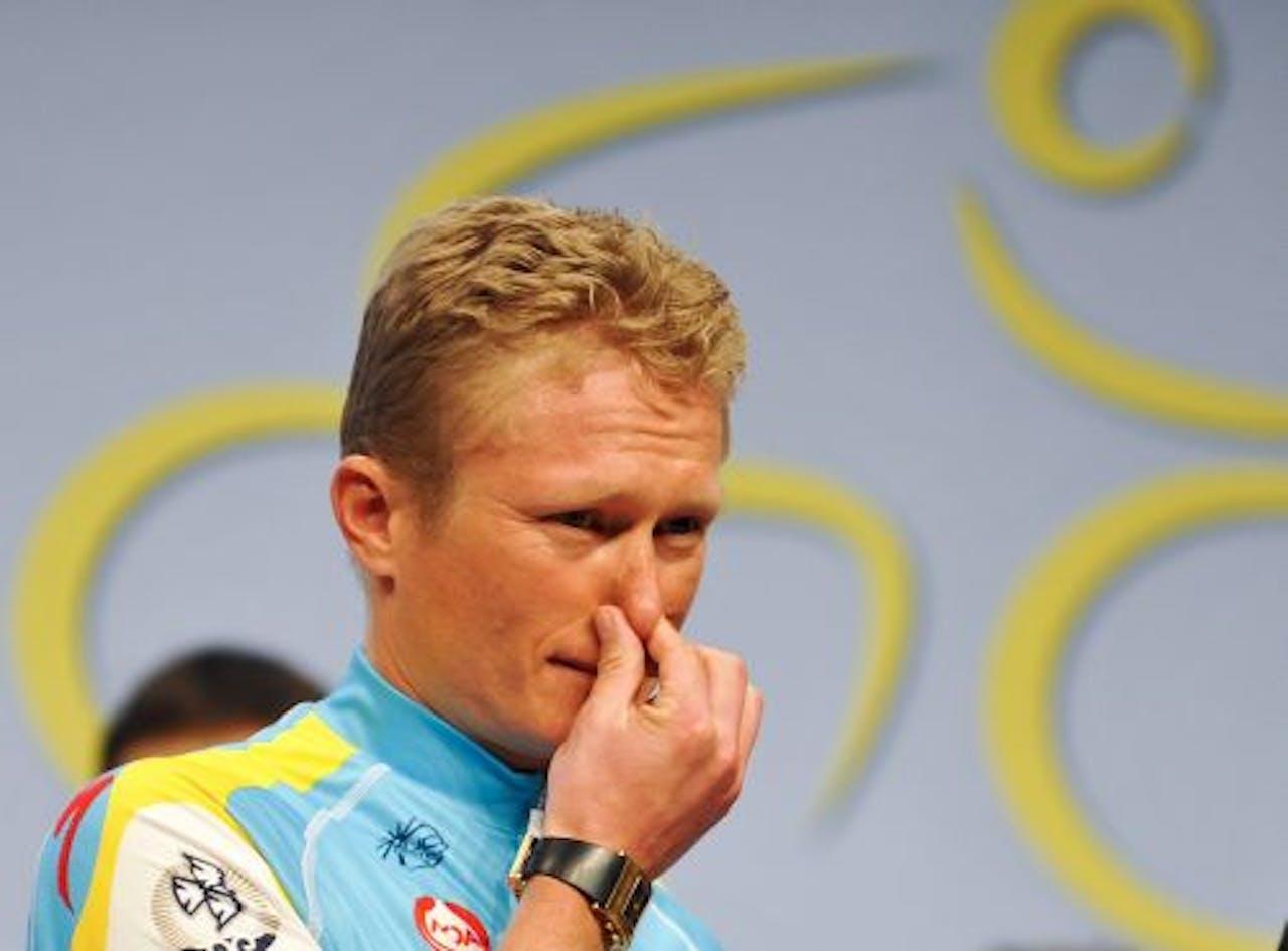 De Kazakse wielrenner Aleksandr Vinokoerov. EPA