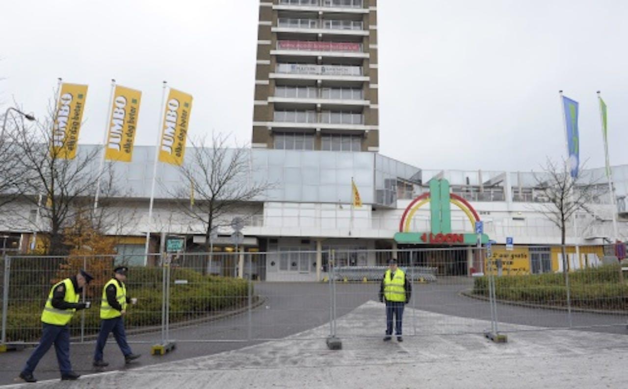 Winkelcentrum 't Loon in Heerlen is hermetisch afgesloten. ANP