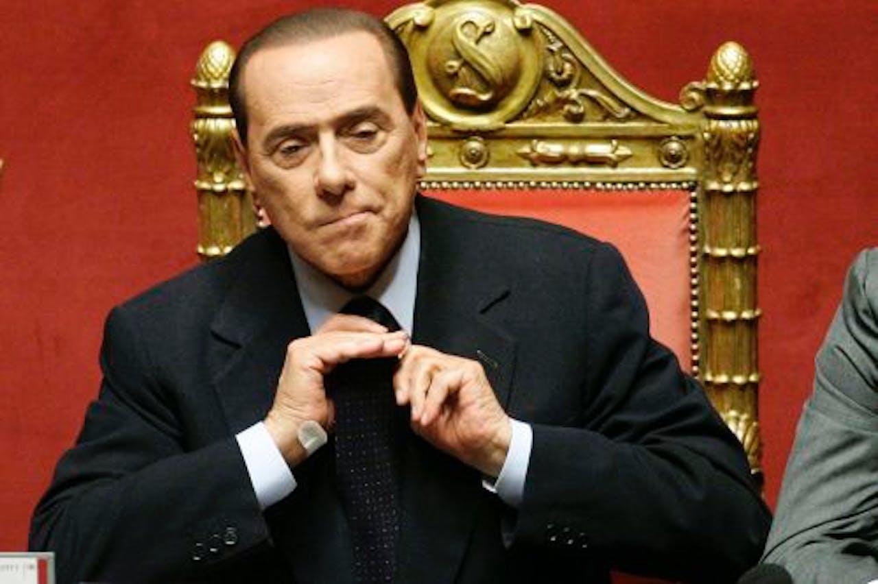 De Italiaanse premier Silvio Berlusconi. EPA