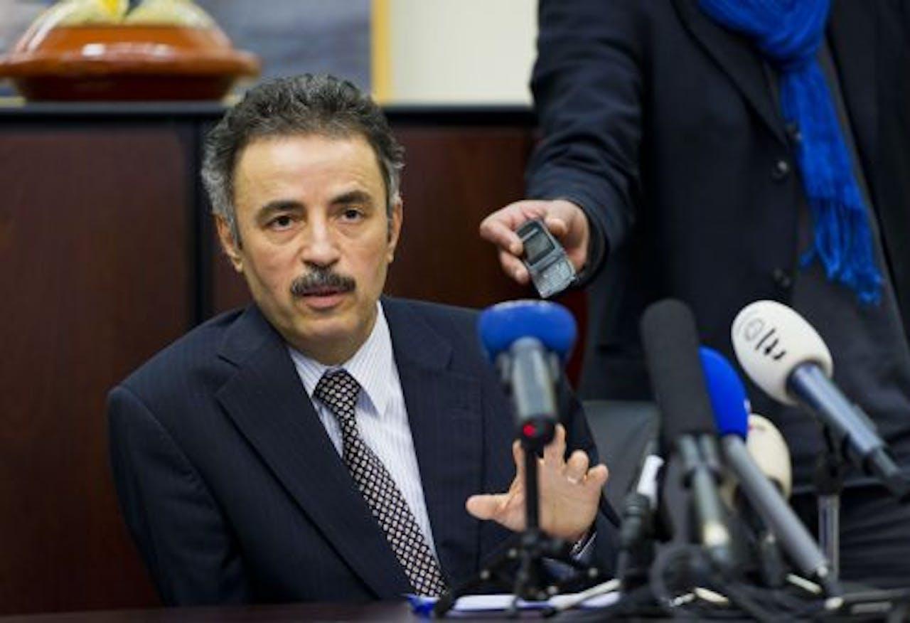 De Libische vice-ambassadeur in Nederland Ahmed M. al-Tabouli. ANP