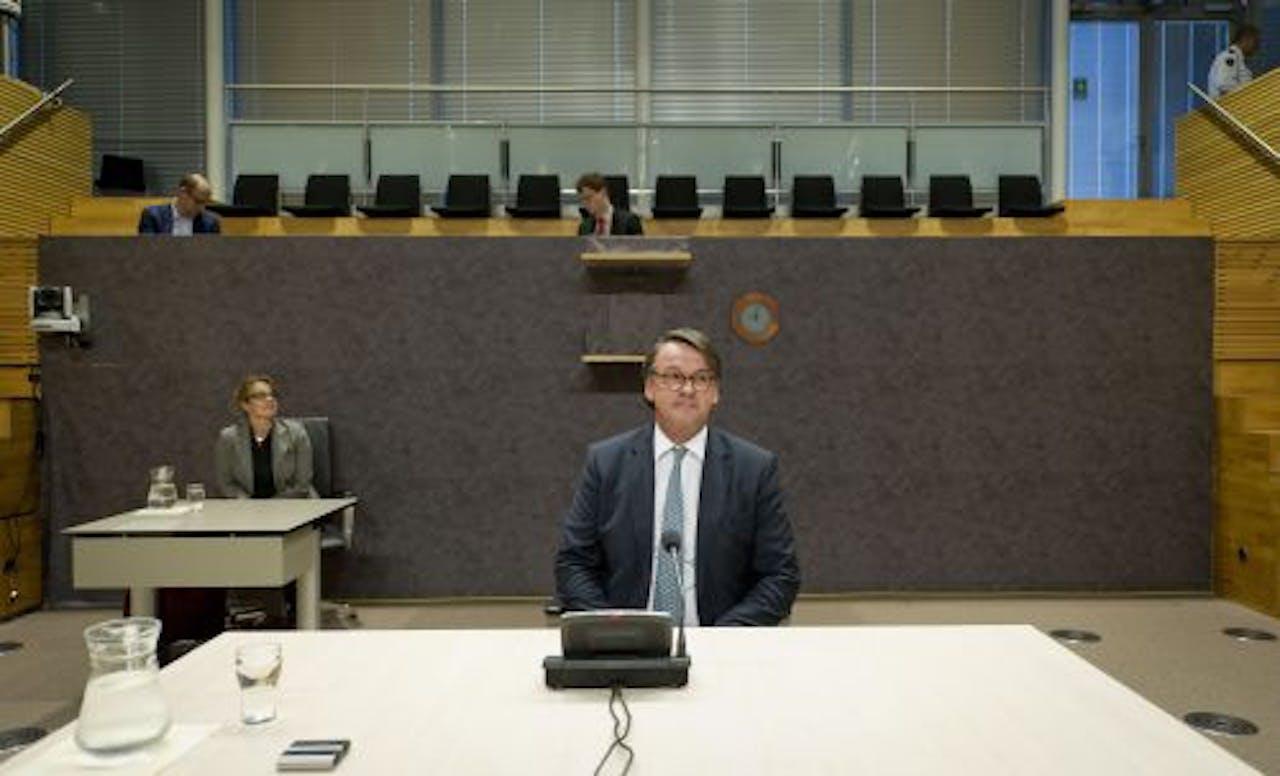 Lex Kloosterman voor de parlementaire enquêtecommissie. ANP