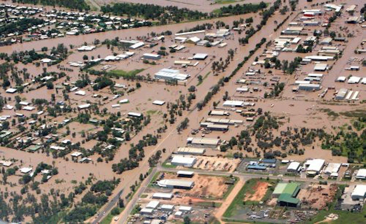 Archiefbeeld van de overstromingen in Australië. EPA