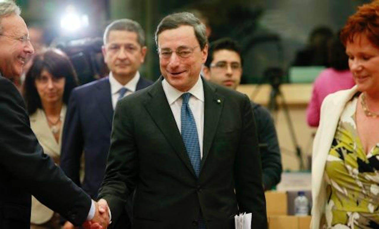 Mario Draghi, de nieuwe president van de Europese Centrale Bank (ECB). EPA