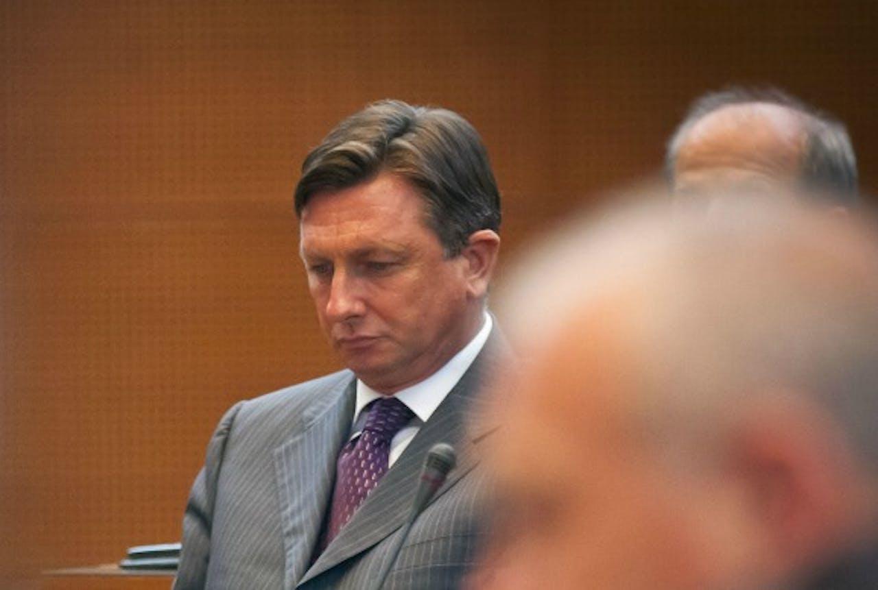 Premier Pahor tijdens de vertrouwenssteming