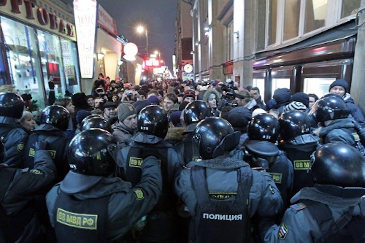 Demonstratie in Moskou eerder deze week. EPA