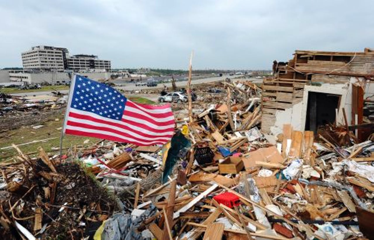De ravage in Joplin. ANP.
