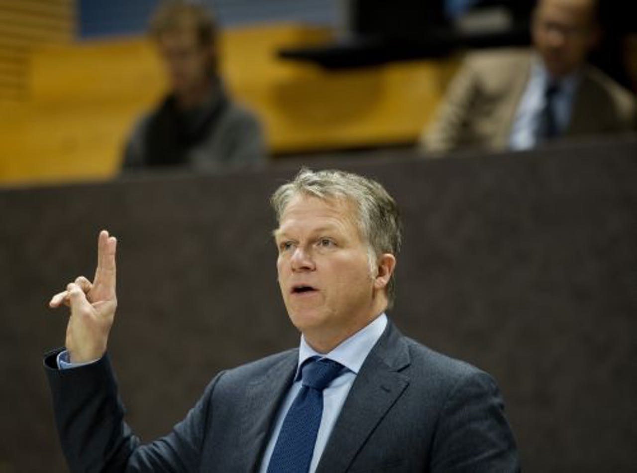 Wouter Bos verschijnt voor de parlementaire enquêtecommissie. ANP