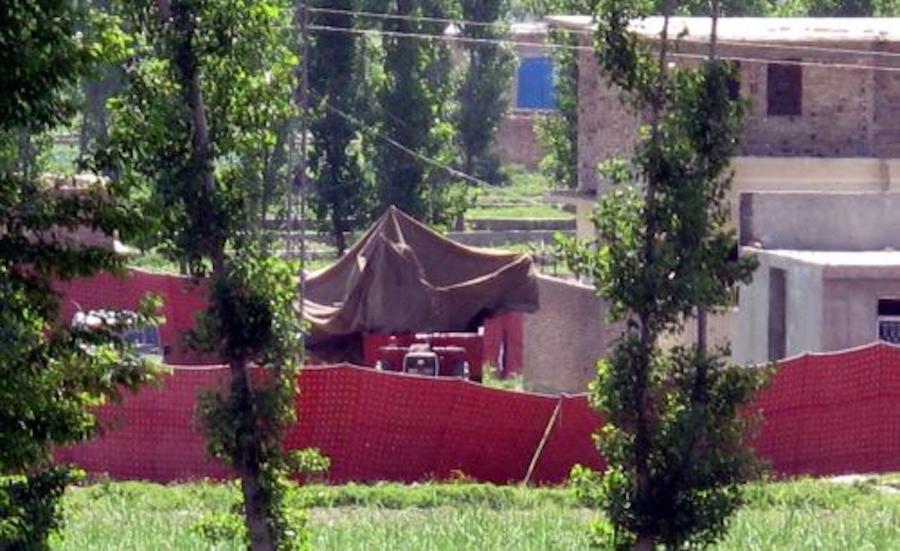 De plek waar Osama bin Laden omgebracht is. EPA