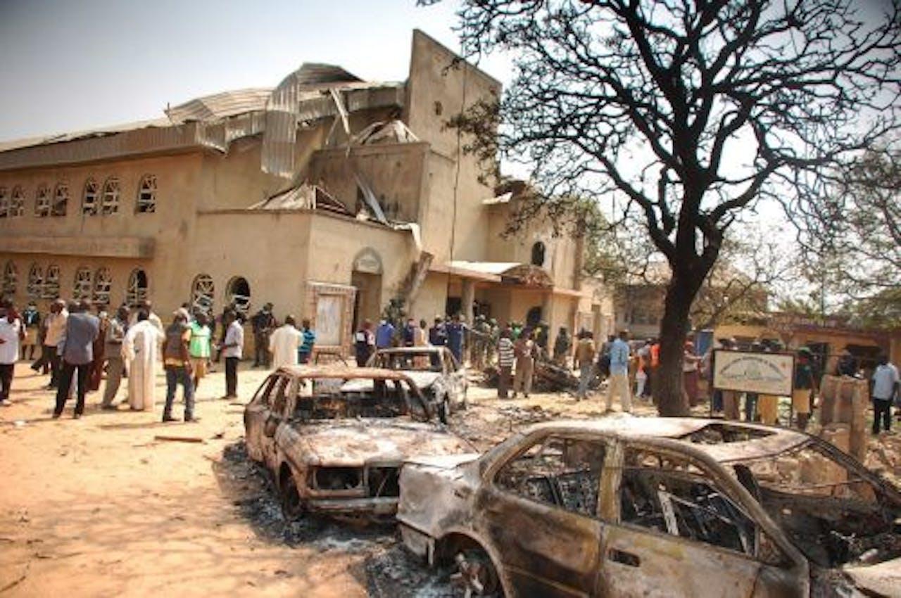 Op 25 december ging een bom af bij een katholieke kerk in Madalla, Nigeria. EPA
