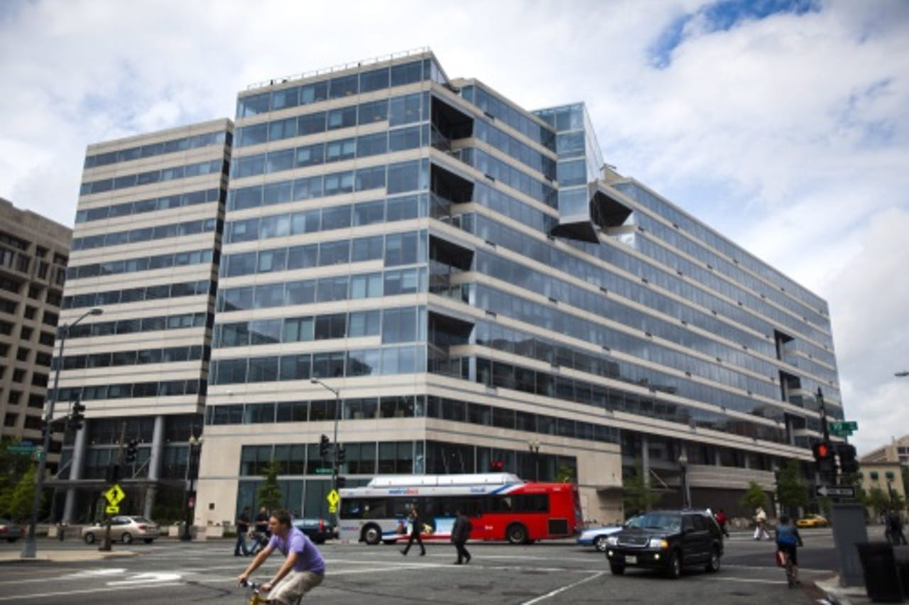Het hoofdkwartier van het IMF in Washington. EPA