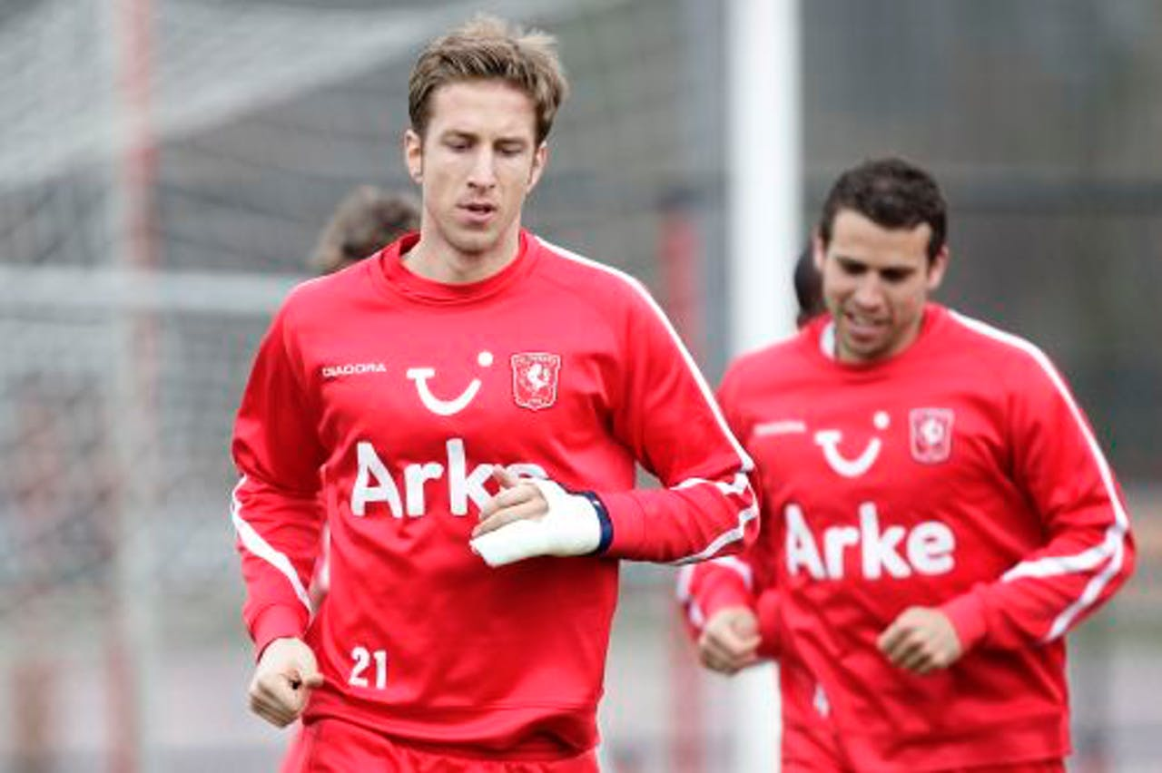 Janko trainde vrijdag wel mee met FC Twente. ANP