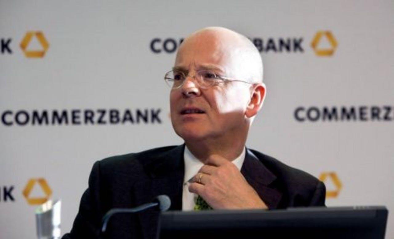 Martin Blessing, topman van het Duitse financiële concern Commerzbank. EPA