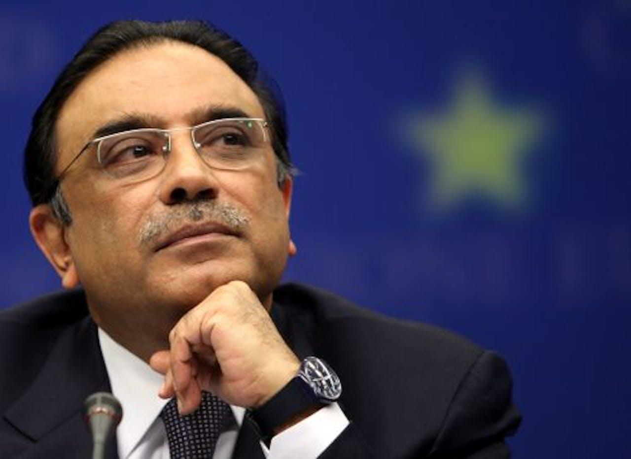 De Pakistaanse president Asif Ali Zardari. EPA