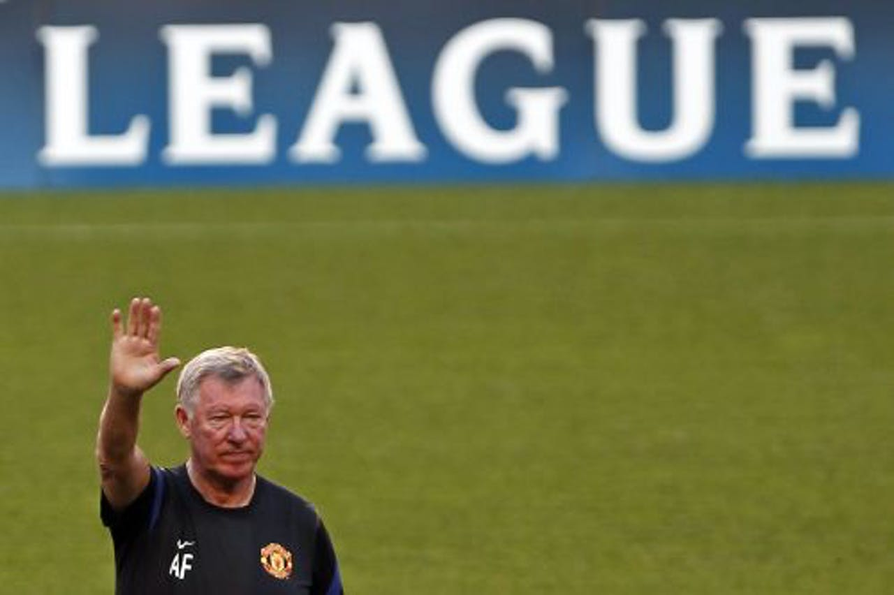 Coach Alex Ferguson van Manchester United. EPA