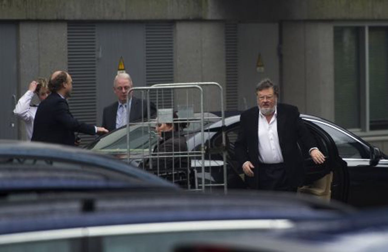 Hans Melchers komt aan bij de rechtbank van Zutphen. ANP